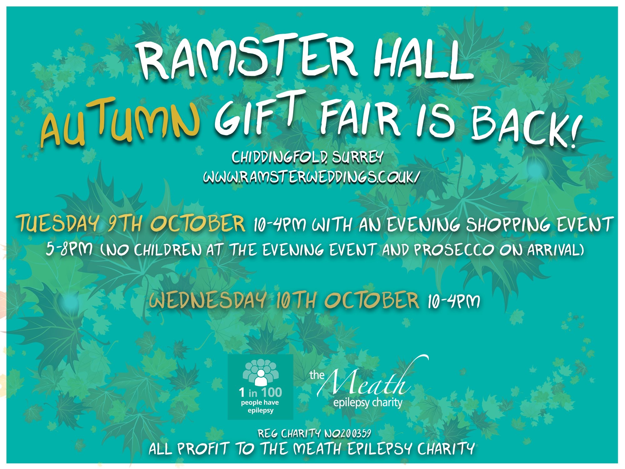 0045179ab492 One of our very popular  fairs is back-the Ramster Hall Autumn Gift Fair at   Chiddingfold  Surrey. It is on 9-10 Oct. To apply now go to ...